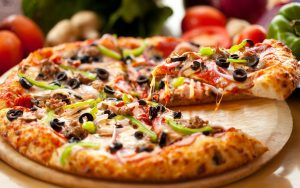 Pizza with all of the toppings
